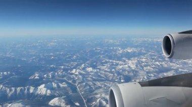 Aerial plane view — Vídeo de stock