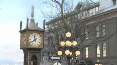 Steam Clock in Gastown — Stock Video