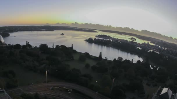 Bahía de Sydney zona amanecer timelapse — Vídeo de stock