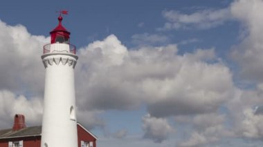 Fisgard lighthouse on Vancouver Island — Stock Video