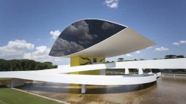 Oscar Niemeyer Museum in Curitiba — Stock Video