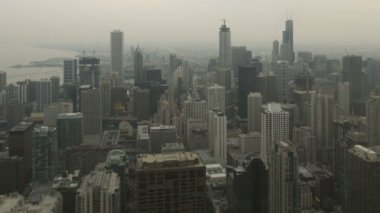 Chicago aerial downtown skyline — Stock Video