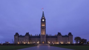 Parliament of Canada at sunrise — Stock Video