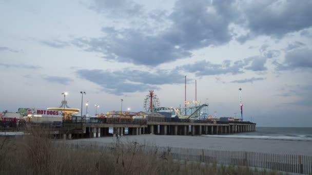 Amusement Park at Steel Pier Atlantic City — Vídeo de stock
