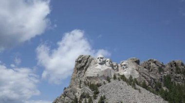 Mt. Rushmore National Memorial Park in South Dakota — Stock Video