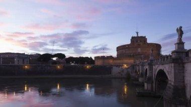Rome Castel Sant Angelo — Stock Video