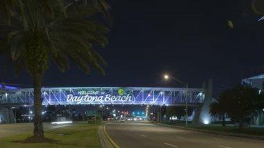 Daytona Beach night — Stock Video