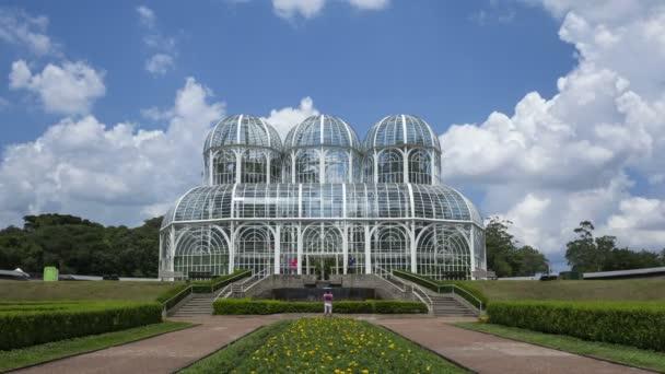 Jardín Botánico de Curitiba Jardim Botanico — Vídeo de stock