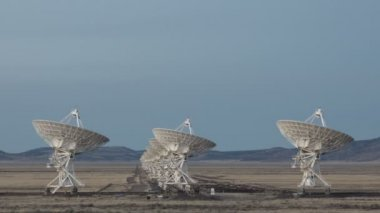 Large Array Radio Telescopes — Stock Video