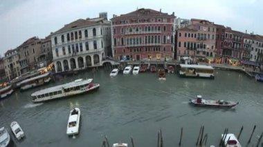 Fisheye Venice sunset Grand Canal — Stock Video