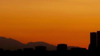 Los Angeles skyline sunrise — Stock Video