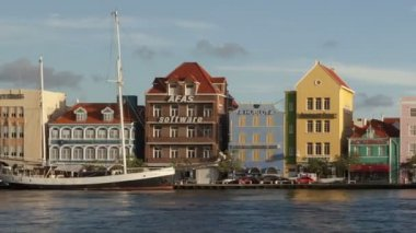 Willemstad Curacao Waterfront — Stock Video