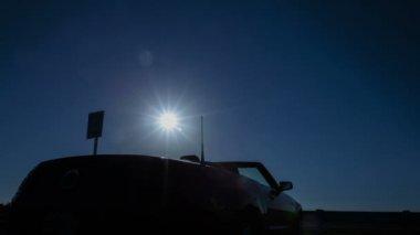Convertible sun rising — Stock Video