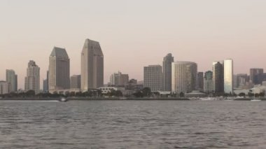 San Diego Skyline sunset — Stock Video