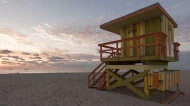 Miami Beach sunrise timelapse — Stock Video