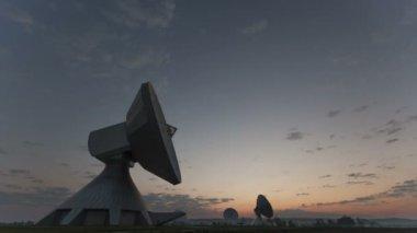 Large Array Radio Telescopes — Stock Video