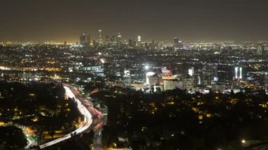 Los Angeles Downtown from Hollywood Hills — Stock Video