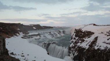 Selfoss waterfall in Iceland — Stock Video
