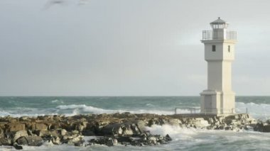 Lighthouse Akranes Iceland — Stock Video