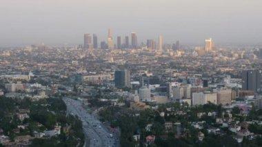 Timelapse Skyline of Los Angeles — Stock Video