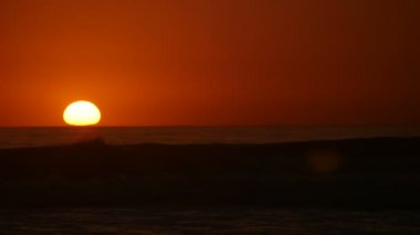 Timelapse sunset at the pacific ocean — Stock Video