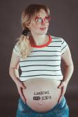 Pregnant woman waiting for a new baby.  — Stock Photo