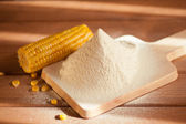 Sifted maize flour — Stock Photo