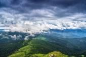 Cloudy sky over Chornohora ridge — Stock Photo