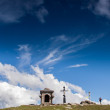 Church cross in Carpathians — Stock Photo #67750417