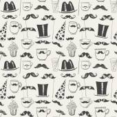 Mustache party background — Stock Vector