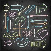 Set of doodle sketch arrows — Stockvektor