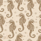 Background with sea-horses — Vetorial Stock