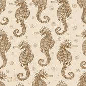 Background with sea-horses — Stockvector