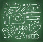 Doodle sketch arrows — Stock Vector