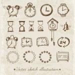 Doodle sketch watches — Vecteur #62061509