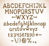 Vintage  sketch font — Stock Vector