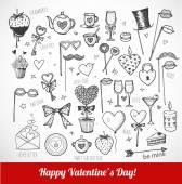 Valentine's Day symbols — 图库矢量图片