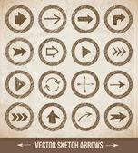 Sketch arrow collection — Vecteur