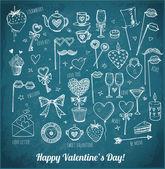 Valentine's Day symbols — ストックベクタ