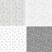 Seamless Christmas backgrounds — Stock Vector