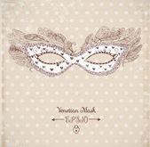 Festive venetian mask — Stockvector
