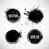 Four grunge circles — Vector de stock