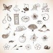 Set of traditional Japanese elements — Stock Vector #75508361