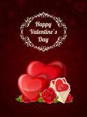 Felice giorno di san valentino del poster — Vettoriale Stock