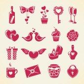 Valentine's Day design elements — Vector de stock