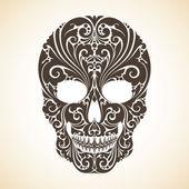 Decorative skull with ornamental — Stockvektor