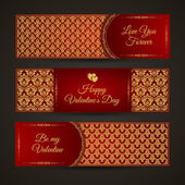 Valentine's day banners set — Stock Vector