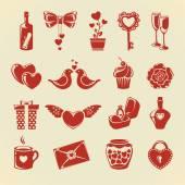 Elementos de diseño de San Valentín — Vector de stock