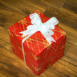 Beautiful gift box with a bow — Stock Photo #53098595