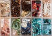 Various craft Jewellery supplies — Stock Photo